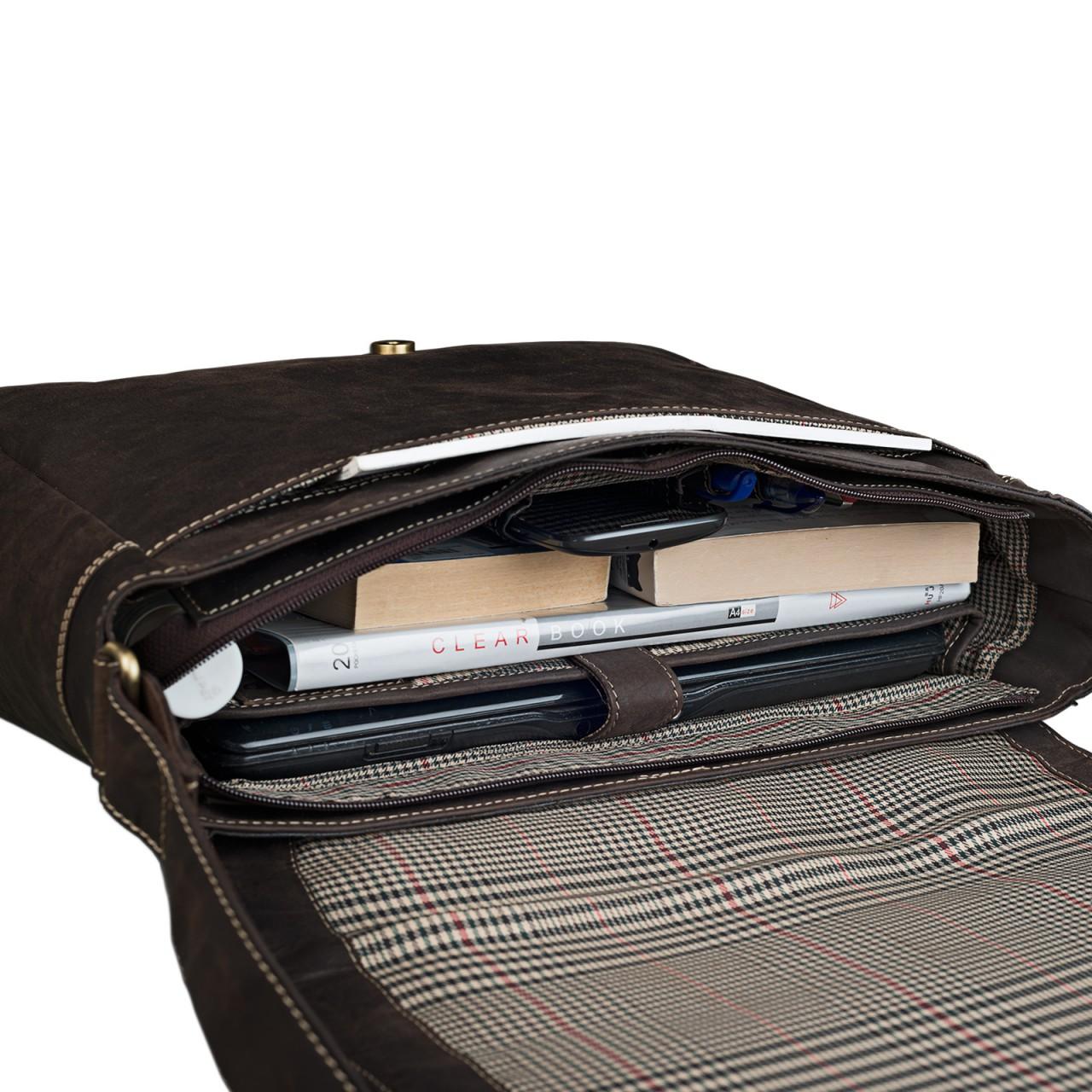 """STILORD """"Phil"""" Vintage Leder Umhängetasche für Herren und Damen Laptoptasche Unitasche Aktentasche Bürotasche Tasche echtes Leder - Bild 12"""