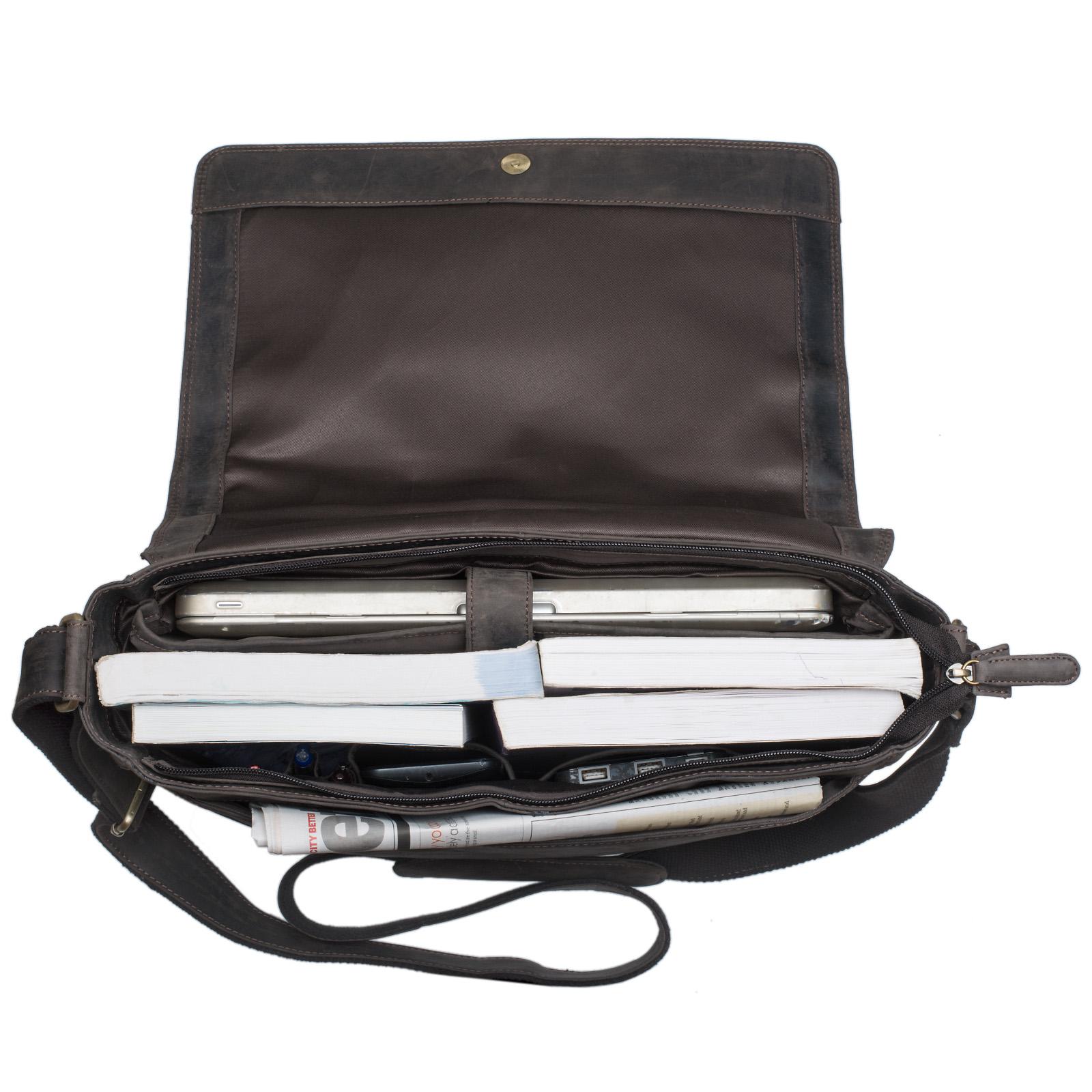 15,6 Zoll Laptoptasche Leder braun