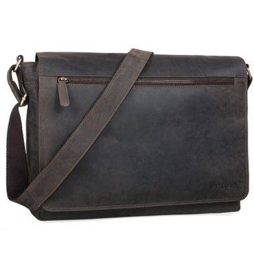 """STILORD """"Phil"""" Vintage Leder Umhängetasche für Herren und Damen Laptoptasche Unitasche Aktentasche Bürotasche Tasche echtes Leder"""
