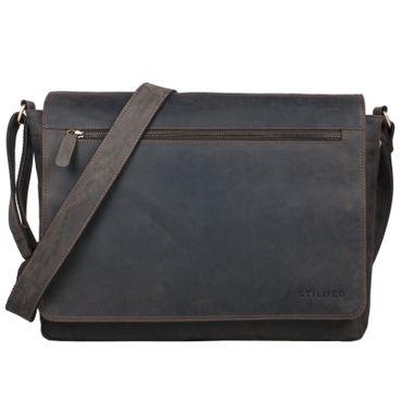 Leder Umhängetasche Laptoptasche