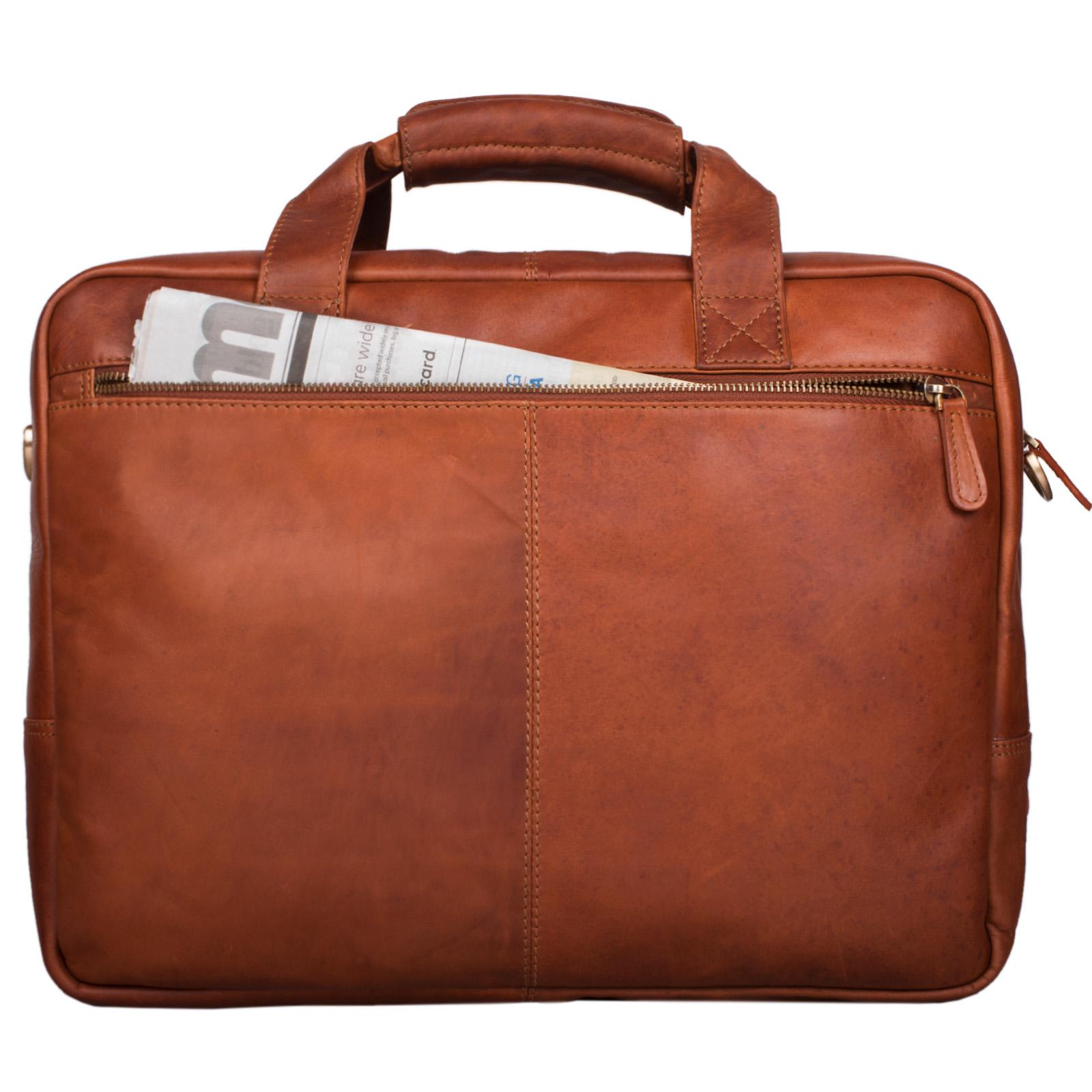 """STILORD """"Explorer"""" Lehrertasche Leder Herren Damen Aktentasche Büro Schulter- oder Umhängetasche für Laptop mit Dreifachtrenner Echt Leder Vintage - Bild 20"""