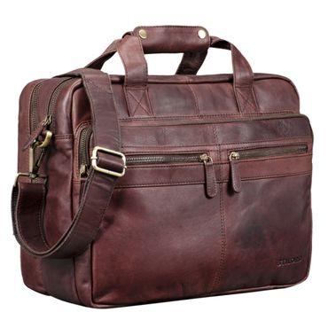 """STILORD """"Explorer"""" Lehrertasche Leder Herren Damen Aktentasche Büro Schulter- oder Umhängetasche für Laptop mit Dreifachtrenner Echt Leder Vintage – Bild 22"""