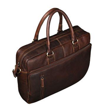 Business Bag Leder dunkel braun