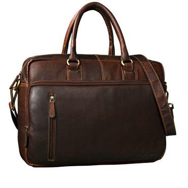 """STILORD """"Fabius"""" Umhängetasche Herren Leder groß Vintage Laptoptasche 15.6 Zoll Aktentasche DIN A4 für Business Büro Arbeit Uni echtes Büffelleder"""