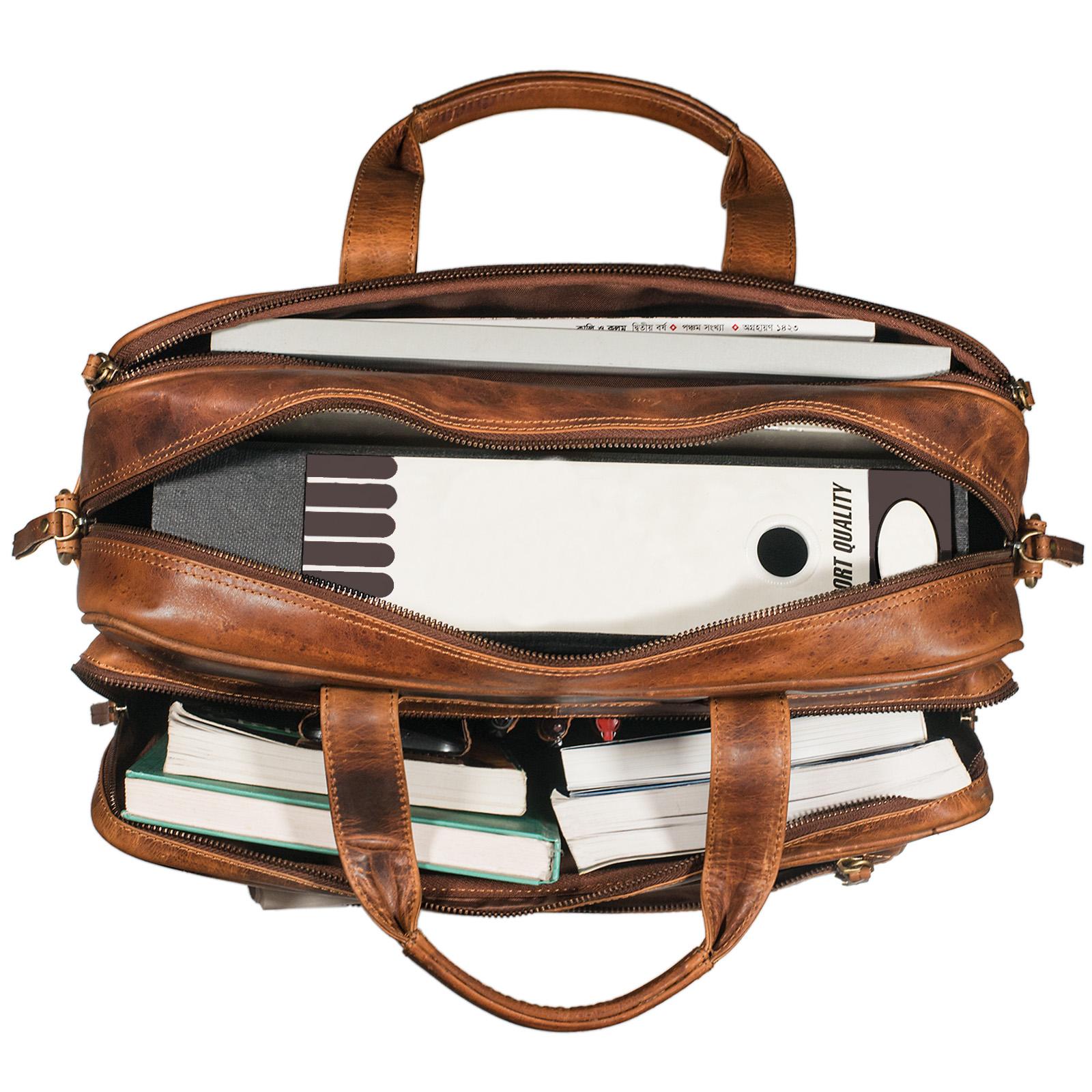 """STILORD """"Walt"""" Vintage Aktentasche Leder Herren Damen Lehrertasche XL groß Büro Business Umhängetasche für 15,6 Zoll Laptop Echt Leder  - Bild 11"""
