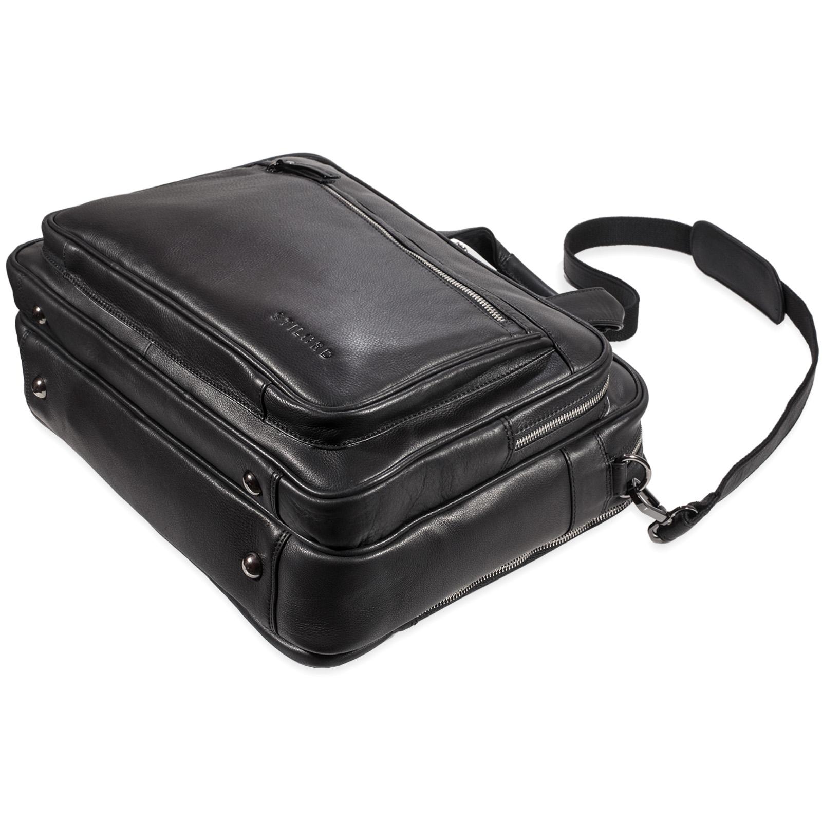 """STILORD """"Walt"""" Vintage Aktentasche Leder Herren Damen Lehrertasche XL groß Büro Business Umhängetasche für 15,6 Zoll Laptop Echt Leder  - Bild 19"""