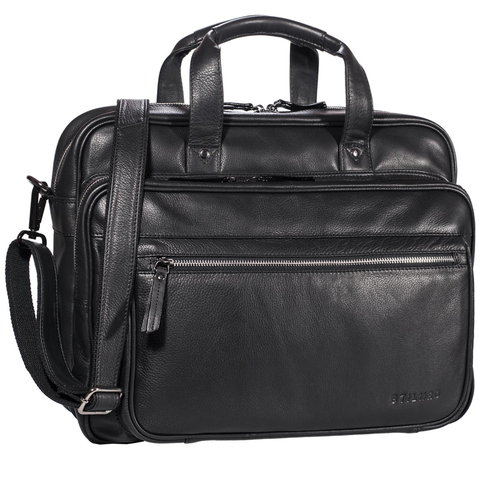 """STILORD """"Walt"""" Vintage Aktentasche Leder Herren Damen Lehrertasche XL groß Büro Business Umhängetasche für 15,6 Zoll Laptop Echt Leder  - Bild 14"""