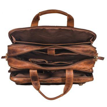 """STILORD """"Walt"""" Vintage Aktentasche Leder Herren Damen Lehrertasche XL groß Büro Business Umhängetasche für 15,6 Zoll Laptop Echt Leder  – Bild 10"""
