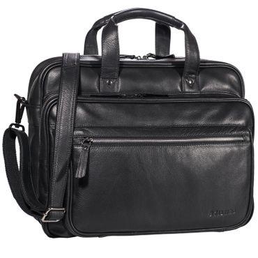 """STILORD """"Walt"""" Vintage Aktentasche Leder Herren Damen Lehrertasche XL groß Büro Business Umhängetasche für 15,6 Zoll Laptop Echt Leder  – Bild 14"""