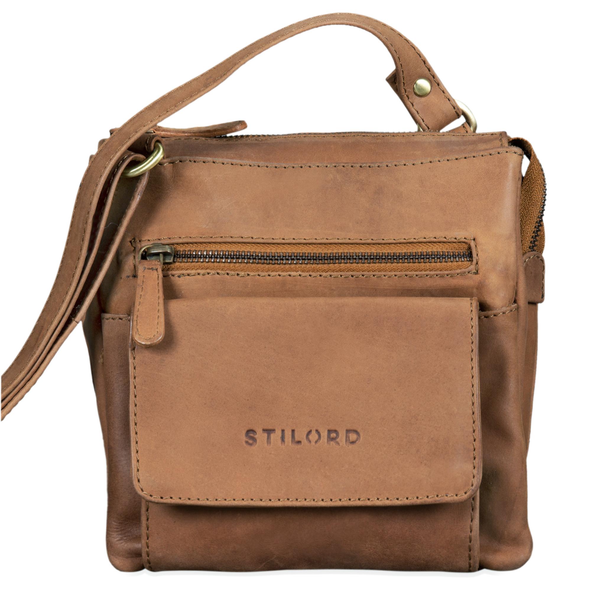 """STILORD """"Leon"""" Schultertasche klein Leder Herren Damen Umhängetasche Vintage Handtasche Ledertasche Crossbody Herrentasche - Bild 8"""
