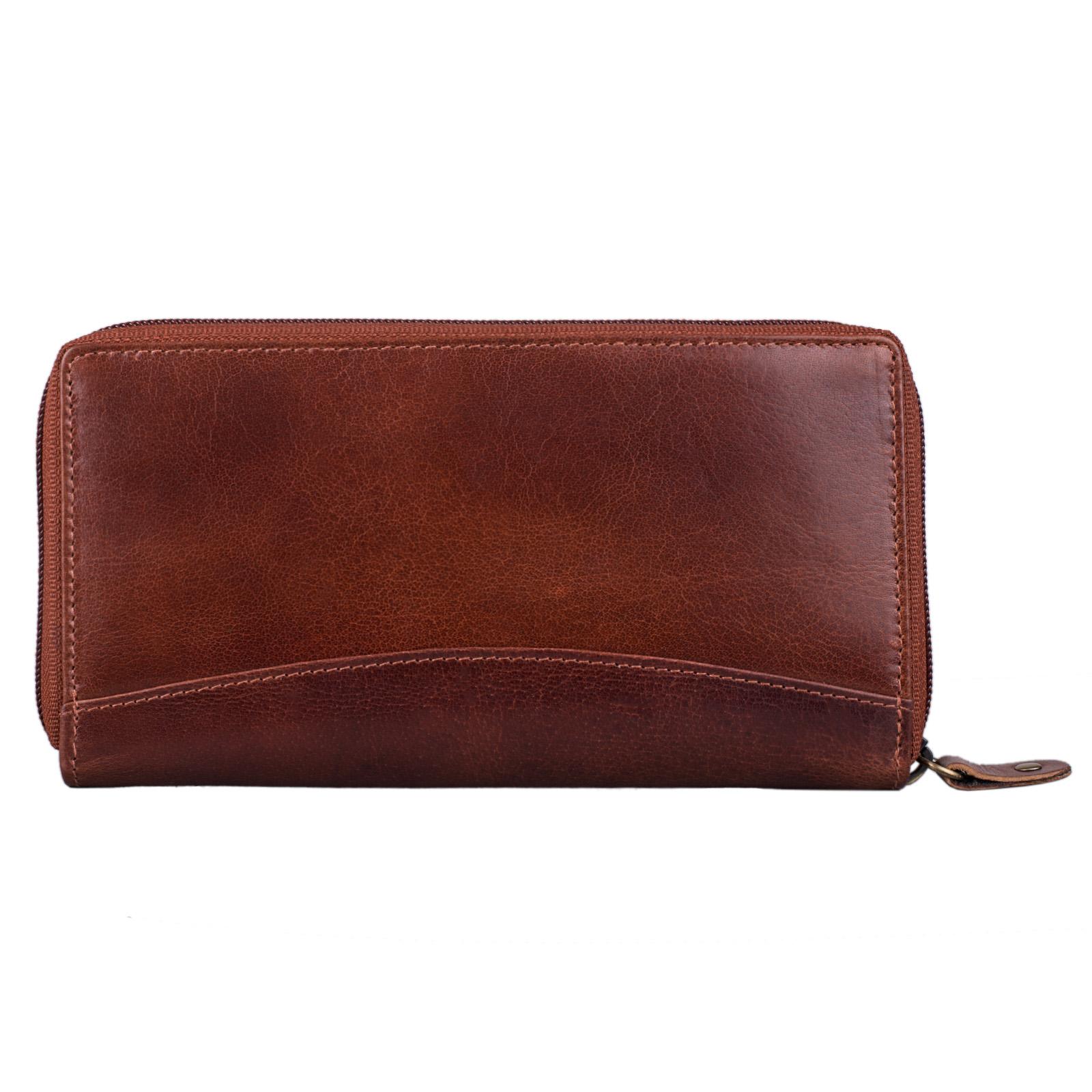 """STILORD """"Saskia"""" Portemonnaie Damen Leder groß viele Fächer Vintage Brieftasche im Querformat Geldbörse mit Reißverschluss für EC-Karten Kleingeld Ausweis - Bild 6"""
