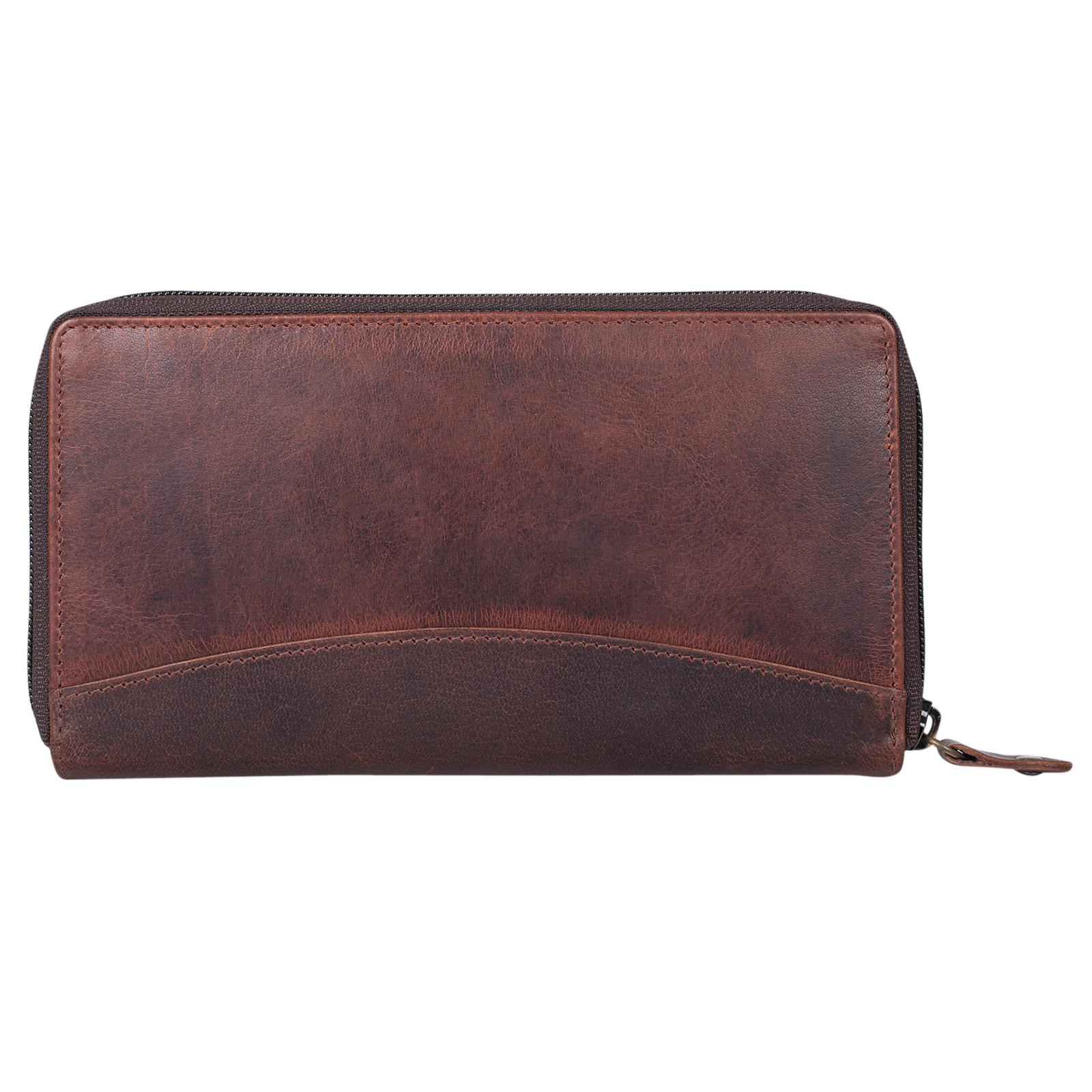 """STILORD """"Saskia"""" Portemonnaie Damen Leder groß viele Fächer Vintage Brieftasche im Querformat Geldbörse mit Reißverschluss für EC-Karten Kleingeld Ausweis - Bild 20"""
