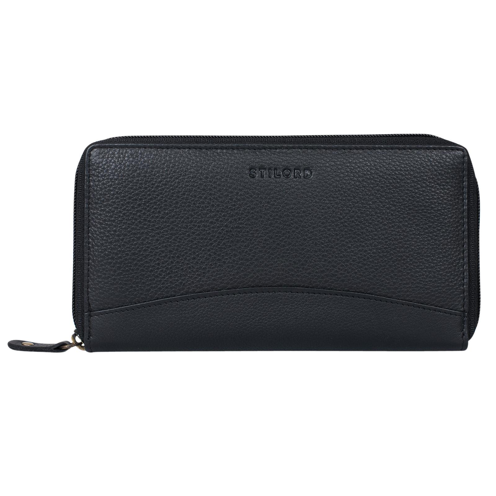 """STILORD """"Saskia"""" Portemonnaie Damen Leder groß viele Fächer Vintage Brieftasche im Querformat Geldbörse mit Reißverschluss für EC-Karten Kleingeld Ausweis - Bild 7"""