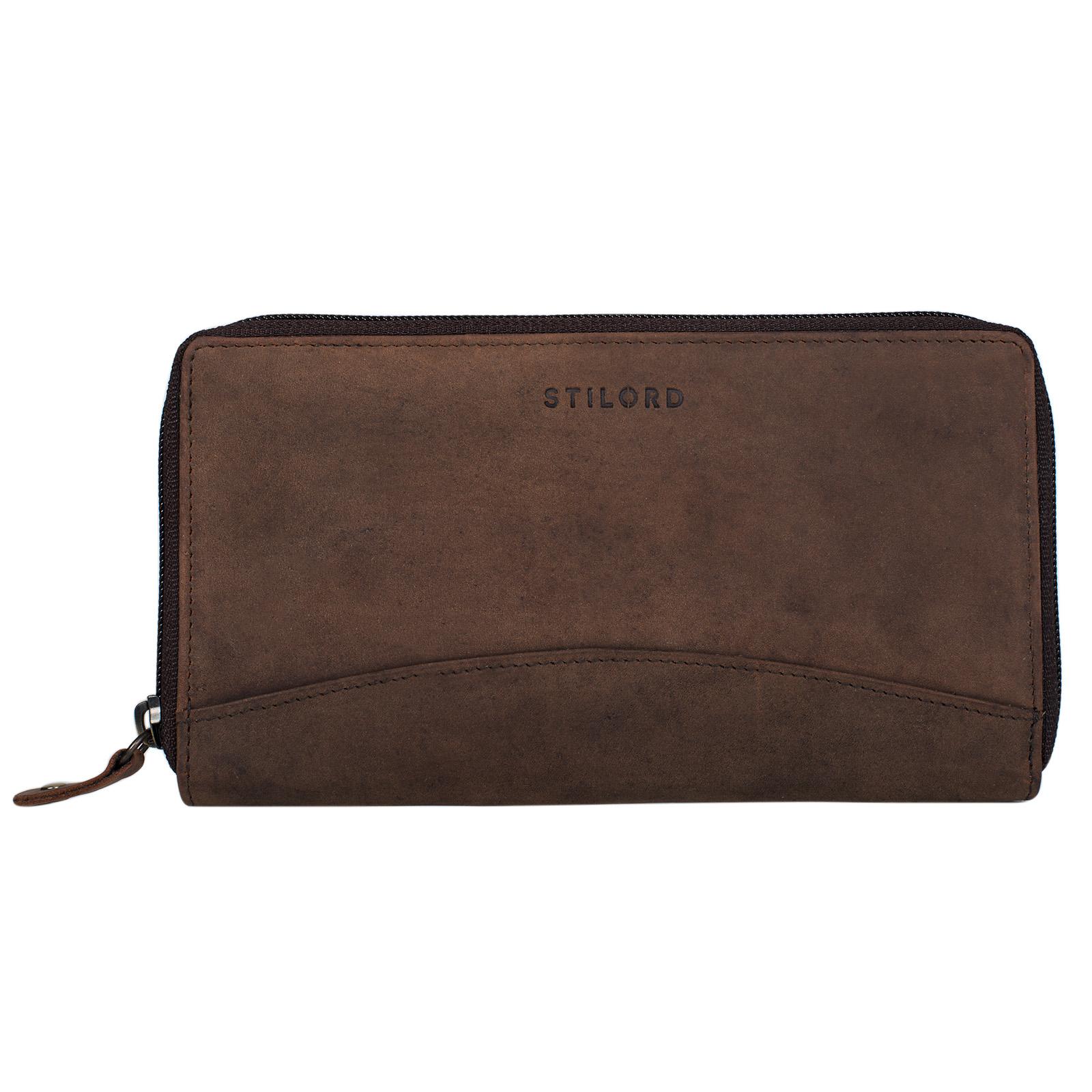 """STILORD """"Saskia"""" Portemonnaie Damen Leder groß viele Fächer Vintage Brieftasche im Querformat Geldbörse mit Reißverschluss für EC-Karten Kleingeld Ausweis - Bild 21"""
