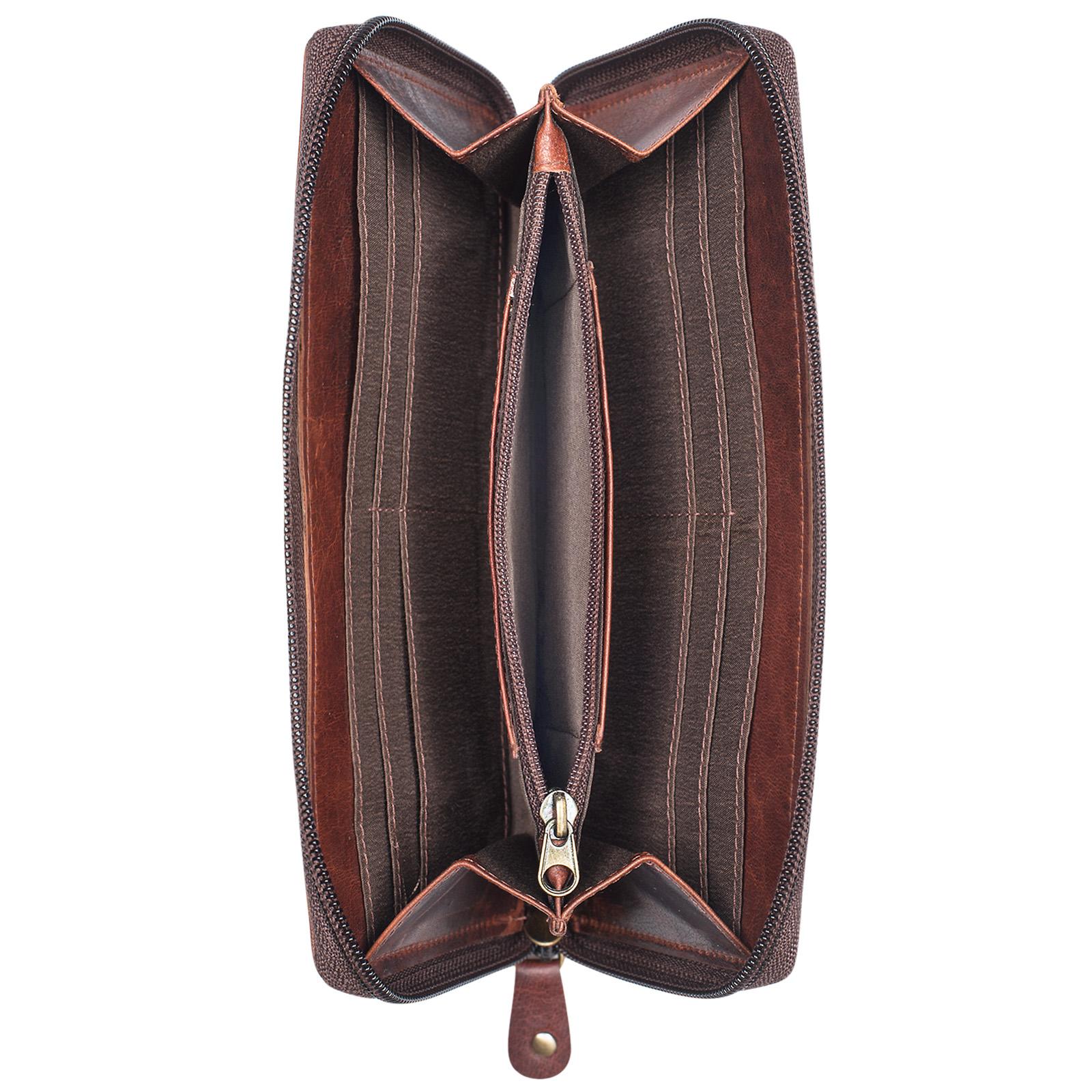 """STILORD """"Saskia"""" Portemonnaie Damen Leder groß viele Fächer Vintage Brieftasche im Querformat Geldbörse mit Reißverschluss für EC-Karten Kleingeld Ausweis - Bild 16"""