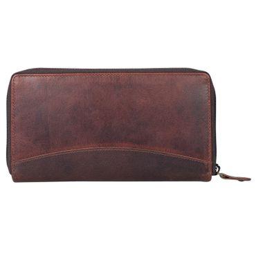 """STILORD """"Saskia"""" Portemonnaie Damen Leder groß viele Fächer Vintage Brieftasche im Querformat Geldbörse mit Reißverschluss für EC-Karten Kleingeld Ausweis – Bild 20"""