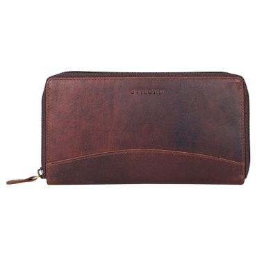"""STILORD """"Saskia"""" Portemonnaie Damen Leder groß viele Fächer Vintage Brieftasche im Querformat Geldbörse mit Reißverschluss für EC-Karten Kleingeld Ausweis – Bild 14"""