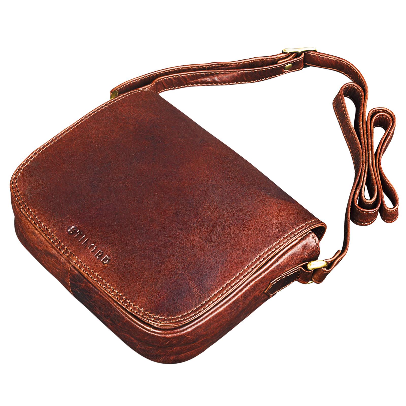 Handtasche small Leder braun