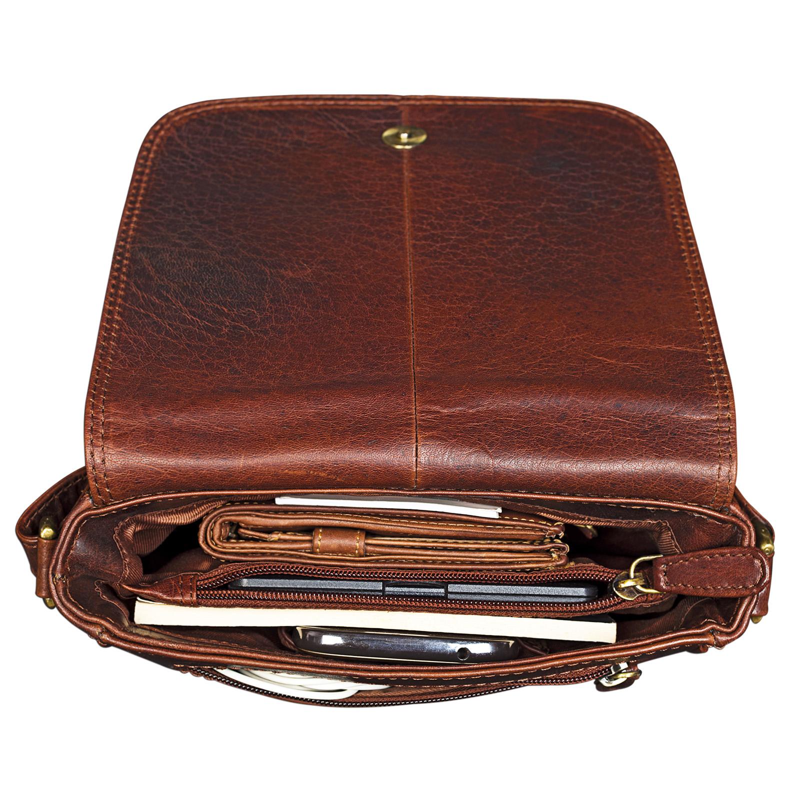 Cross Body Bag Leder braun