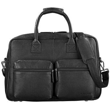 "STILORD ""Ben"" Vintage Businesstasche Leder groß Unisex Umhängetasche 15,6 Zoll Laptop College Bag Aktentasche Uni echtes Rindsleder – Bild 14"