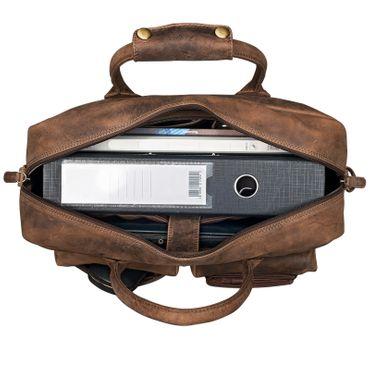 "STILORD ""Ben"" Vintage Businesstasche Leder groß Unisex Umhängetasche 15,6 Zoll Laptop College Bag Aktentasche Uni echtes Rindsleder – Bild 11"