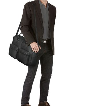 "STILORD ""Ben"" Vintage Businesstasche Leder groß Unisex Umhängetasche 15,6 Zoll Laptop College Bag Aktentasche Uni echtes Rindsleder – Bild 15"