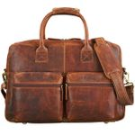 Vintage Businesstasche Leder groß