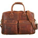 "STILORD ""Ben"" Vintage Businesstasche Leder groß Unisex Umhängetasche 15,6 Zoll Laptop College Bag Aktentasche Uni echtes Rindsleder"