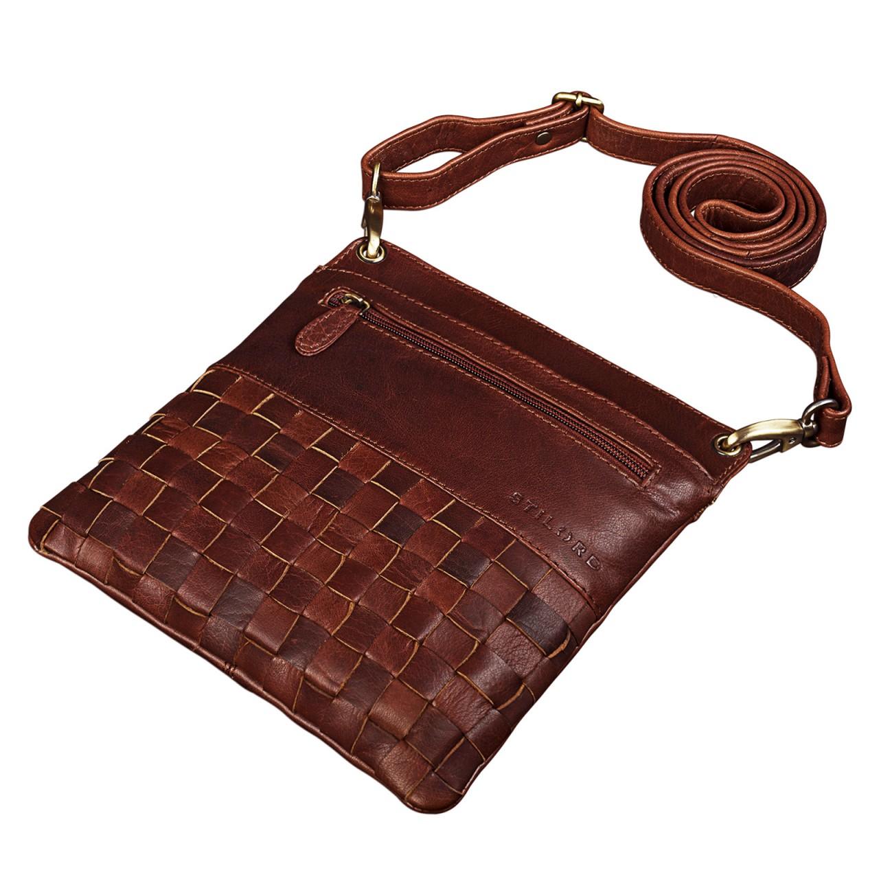 """STILORD """"Sophie"""" Schultertasche Damen klein Leder Handtasche moderne Umhängetasche geflochten Freizeittasche Vintage Abendtasche Ausgehtasche Echtleder - Bild 13"""