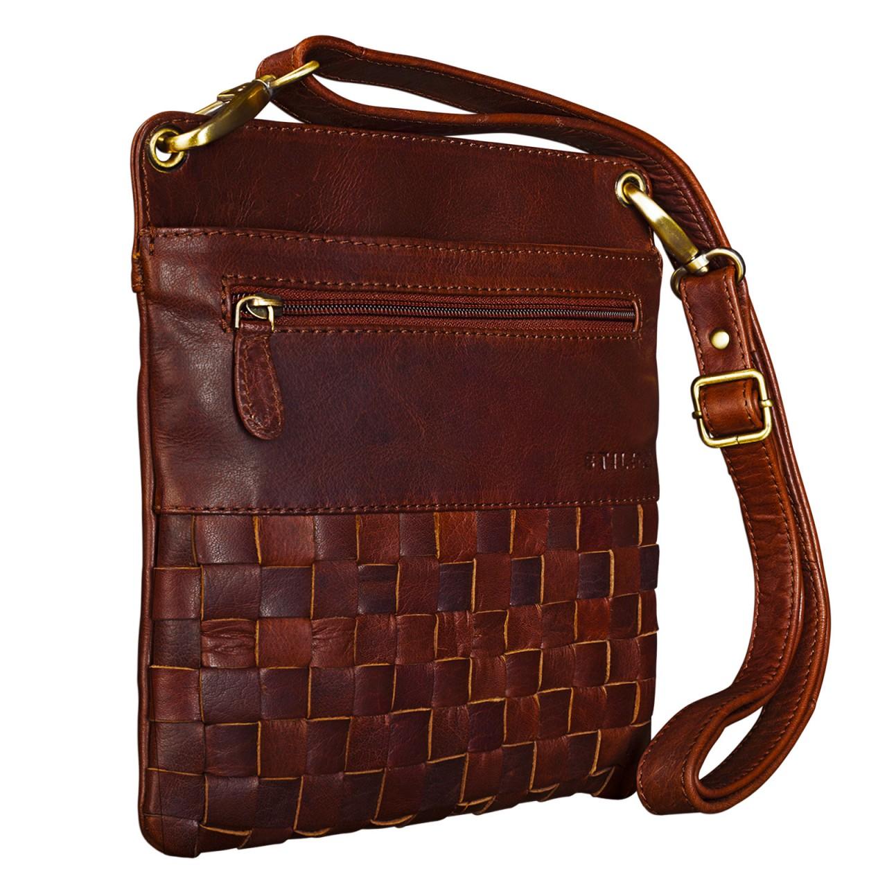 """STILORD """"Sophie"""" Schultertasche Damen klein Leder Handtasche moderne Umhängetasche geflochten Freizeittasche Vintage Abendtasche Ausgehtasche Echtleder - Bild 10"""
