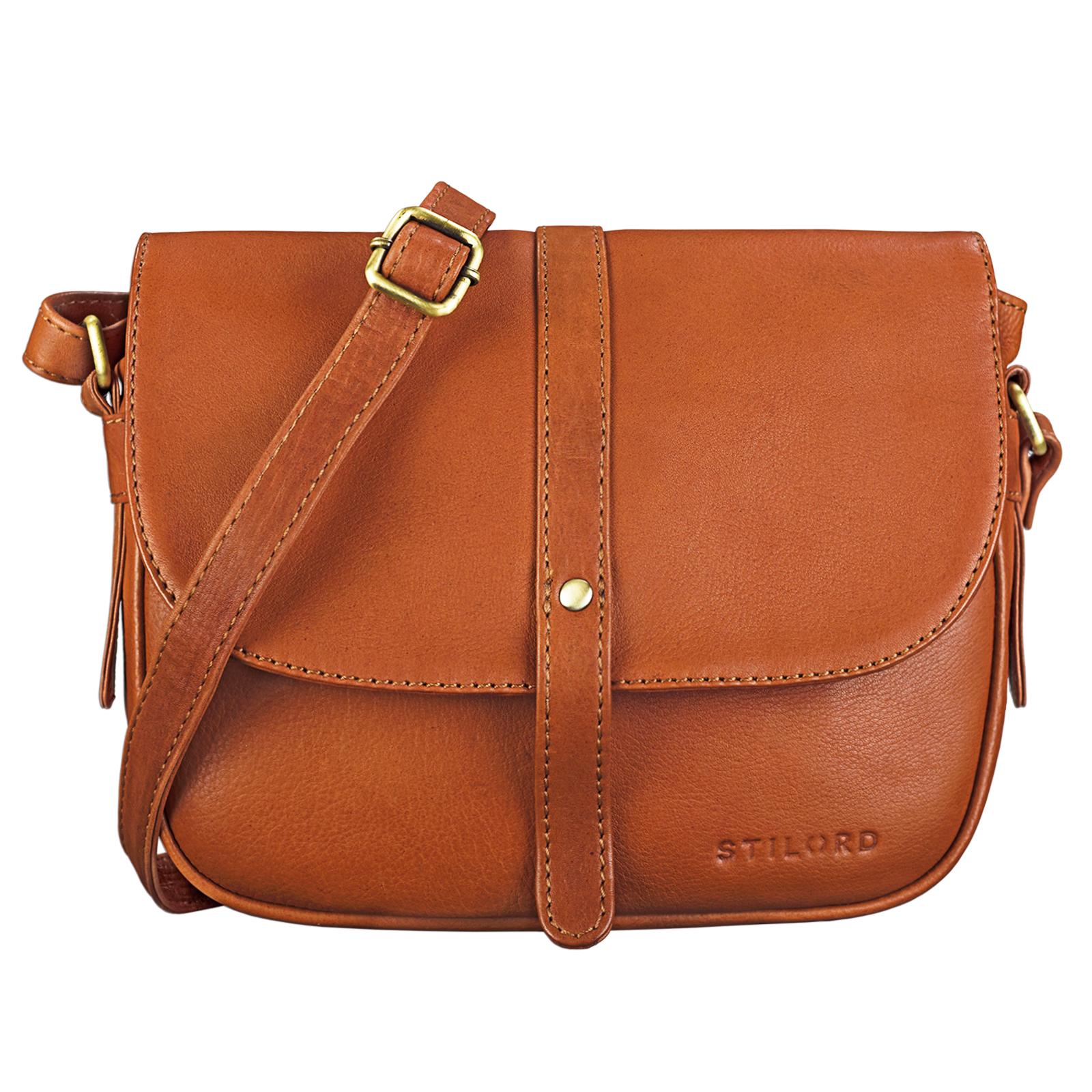 """STILORD """"Kira"""" Umhängetasche Frauen Leder Vintage kleine Handtasche zum Ausgehen klassische Abendtasche Partytasche Freizeittasche Echtleder - Bild 8"""