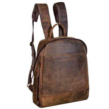"""STILORD """"Marco"""" Uni Rucksack Leder Vintage Daypack groß für Herren Damen DIN A4 mit Laptop-Fach 13,3 Zoll ideal für Schule Business Freizeit echtes Rindsleder – Bild 10"""