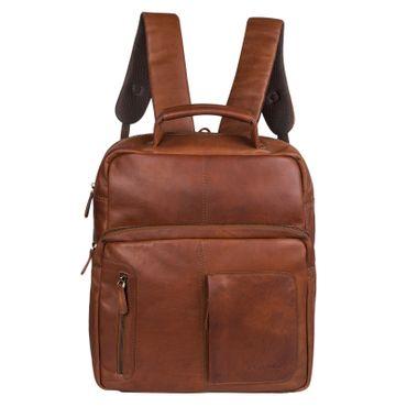 """STILORD """"Toni"""" Vintage Leder Rucksack groß für Frauen Männer moderner Daypack für DIN A4 Ordner 13.3 Zoll Laptop Rucksackhandtasche ideal für Schule Uni und Arbeit Farbe: cognac - braun"""