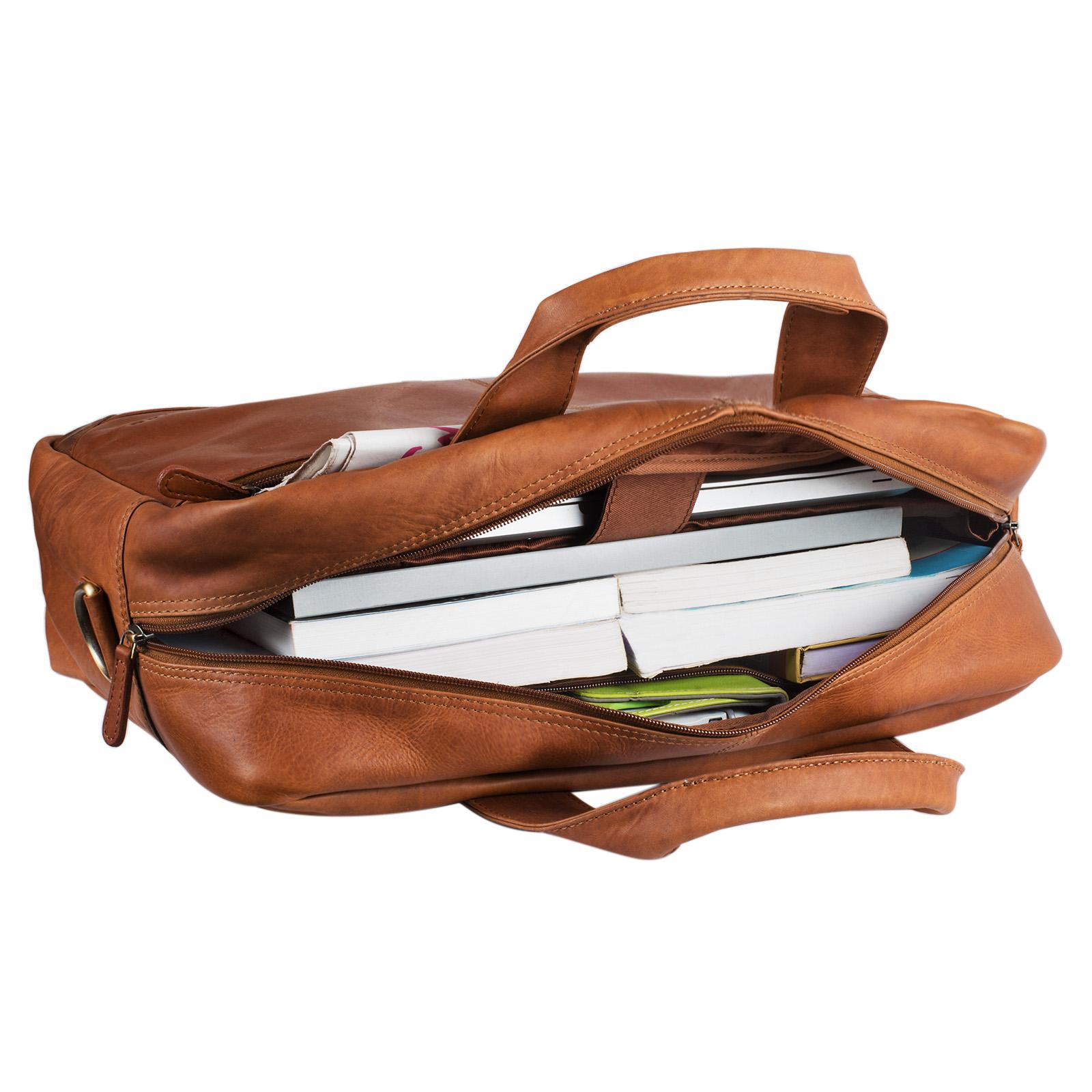 Ledertasche mit Laptopfach 15.6 Zoll Leder