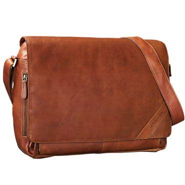"""STILORD """"Nick"""" Umhängetasche Leder Herren Damen Unitasche 15.6 Zoll Laptoptasche Aktentasche Bürotasche Vintage Büffel-Leder – Bild 8"""