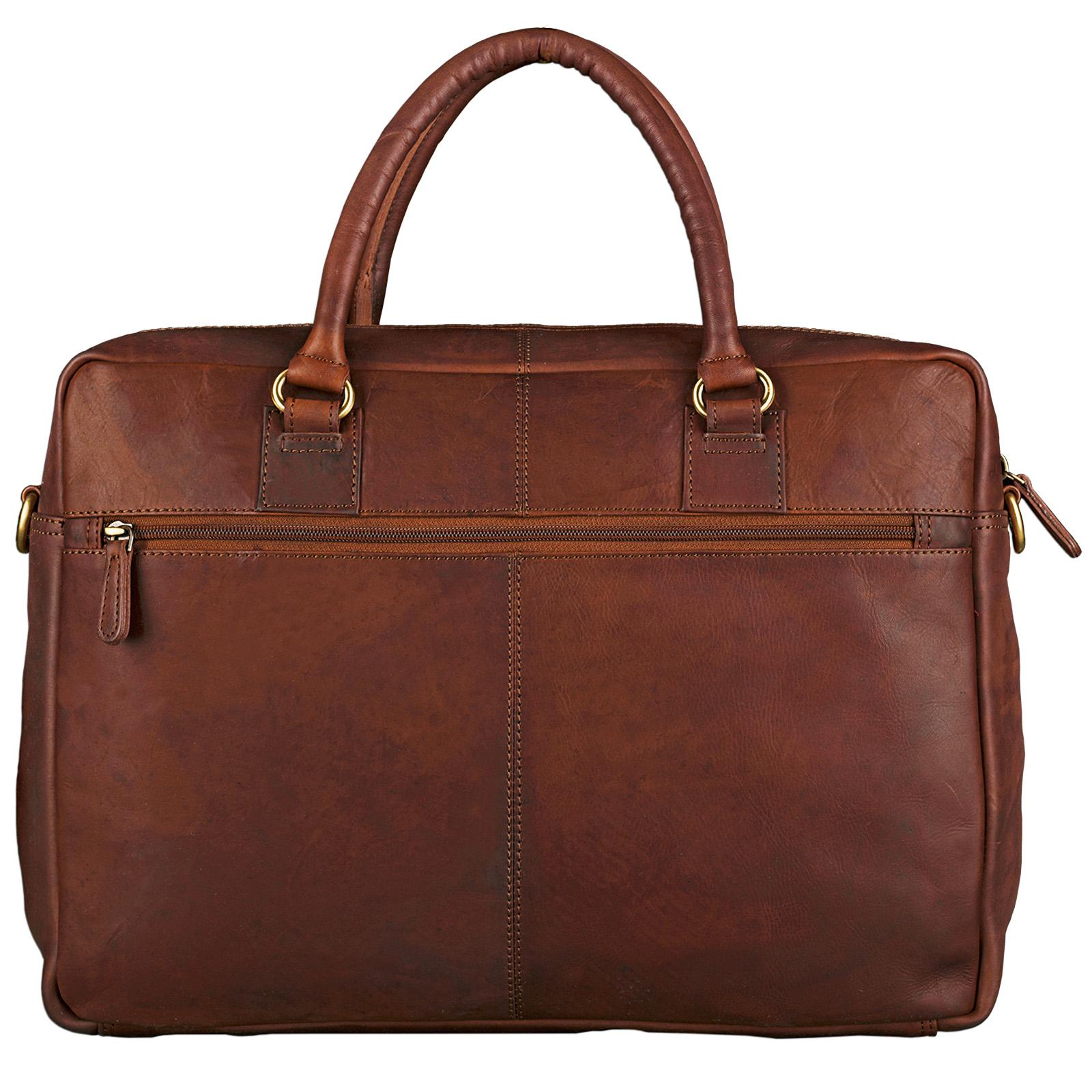 """STILORD """"Aaron"""" Umhängetasche Leder 15,6 Zoll Laptoptasche Aktentasche Bürotasche Unitasche mit Schultergurt Business Vintage - Bild 5"""