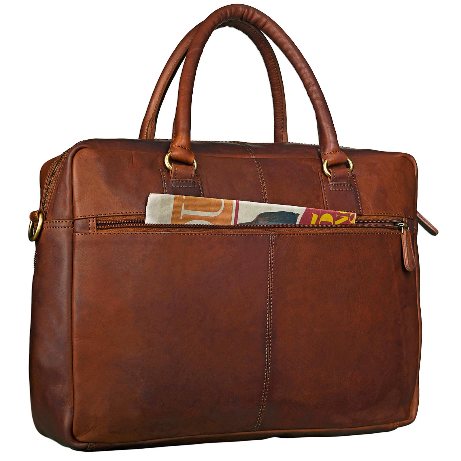 """STILORD """"Aaron"""" Umhängetasche Leder 15,6 Zoll Laptoptasche Aktentasche Bürotasche Unitasche mit Schultergurt Business Vintage - Bild 7"""