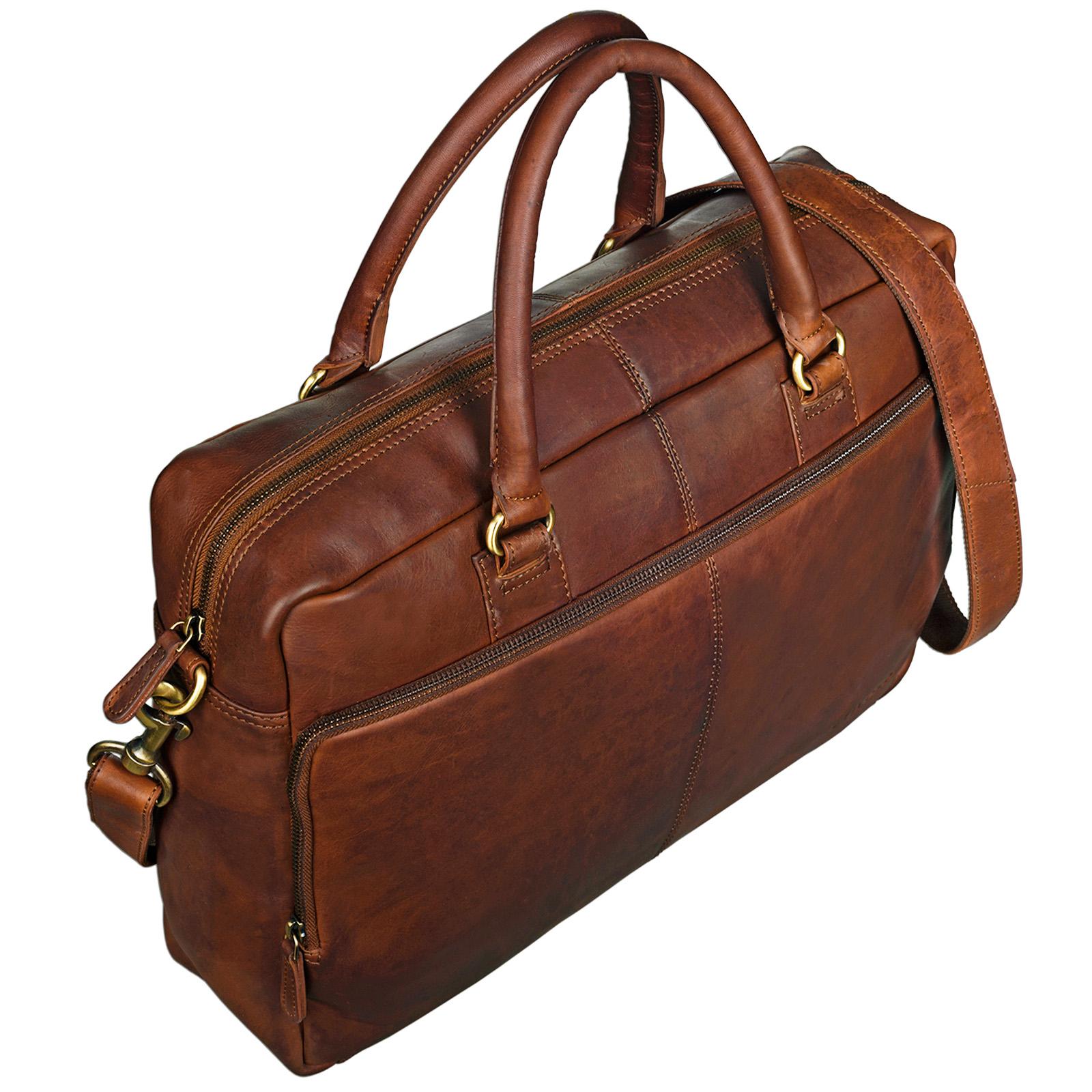 """STILORD """"Aaron"""" Umhängetasche Leder 15,6 Zoll Laptoptasche Aktentasche Bürotasche Unitasche mit Schultergurt Business Vintage - Bild 6"""
