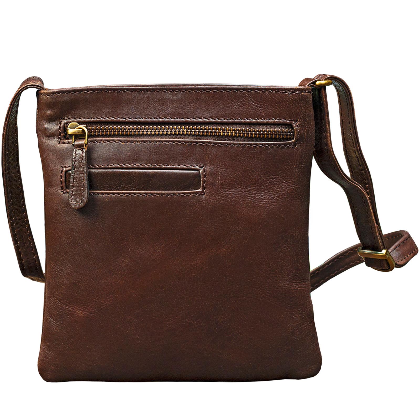 """STILORD """"Lana"""" kleine Umhängetasche Damen Ausgehtasche Schultertasche Handtasche echtes Büffel Leder Vintage Design - Bild 8"""