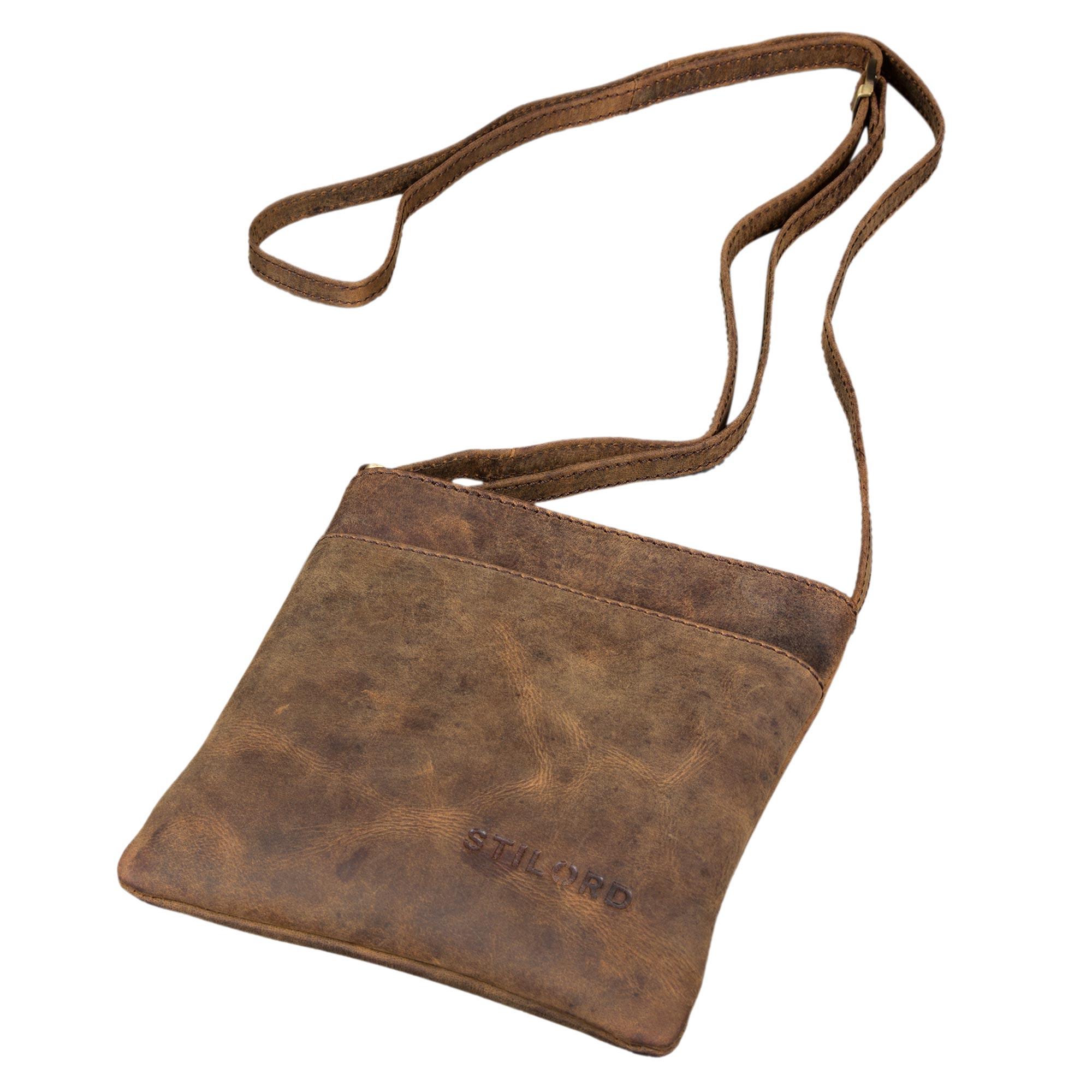 """STILORD """"Lana"""" kleine Umhängetasche Damen Ausgehtasche Schultertasche Handtasche echtes Büffel Leder Vintage Design - Bild 17"""