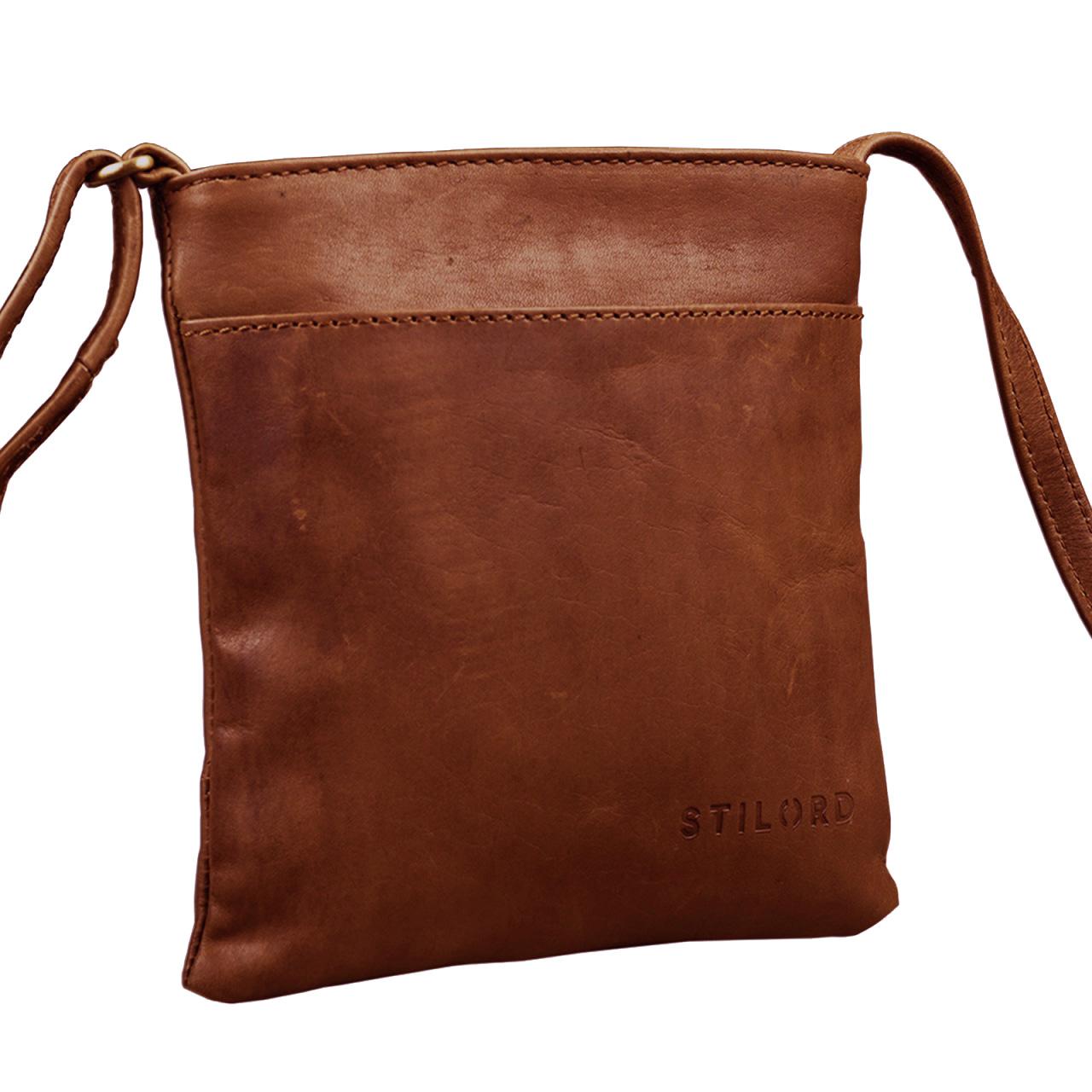 """STILORD """"Lana"""" kleine Umhängetasche Damen Ausgehtasche Schultertasche Handtasche echtes Büffel Leder Vintage Design - Bild 6"""