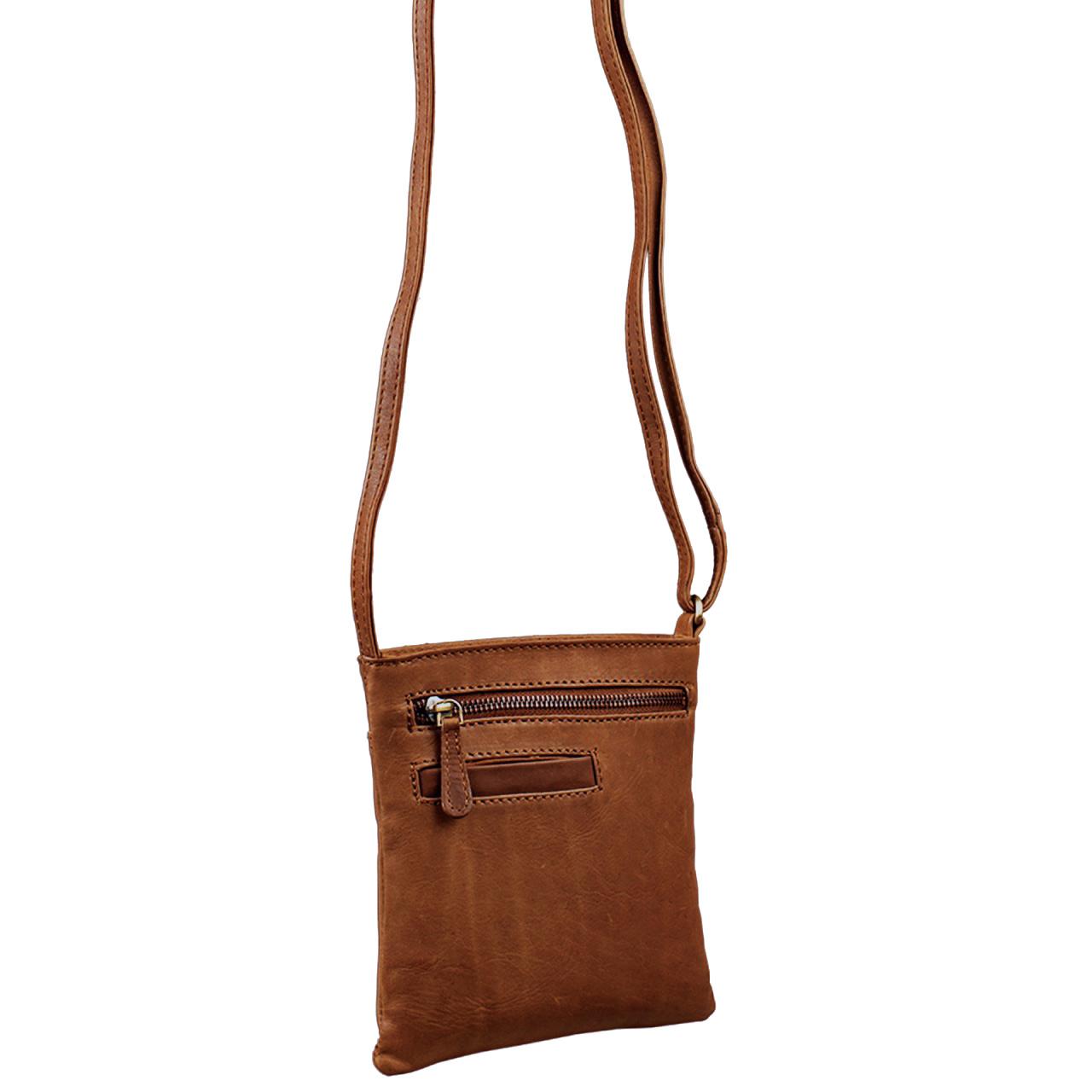 """STILORD """"Lana"""" kleine Umhängetasche Damen Ausgehtasche Schultertasche Handtasche echtes Büffel Leder Vintage Design - Bild 5"""