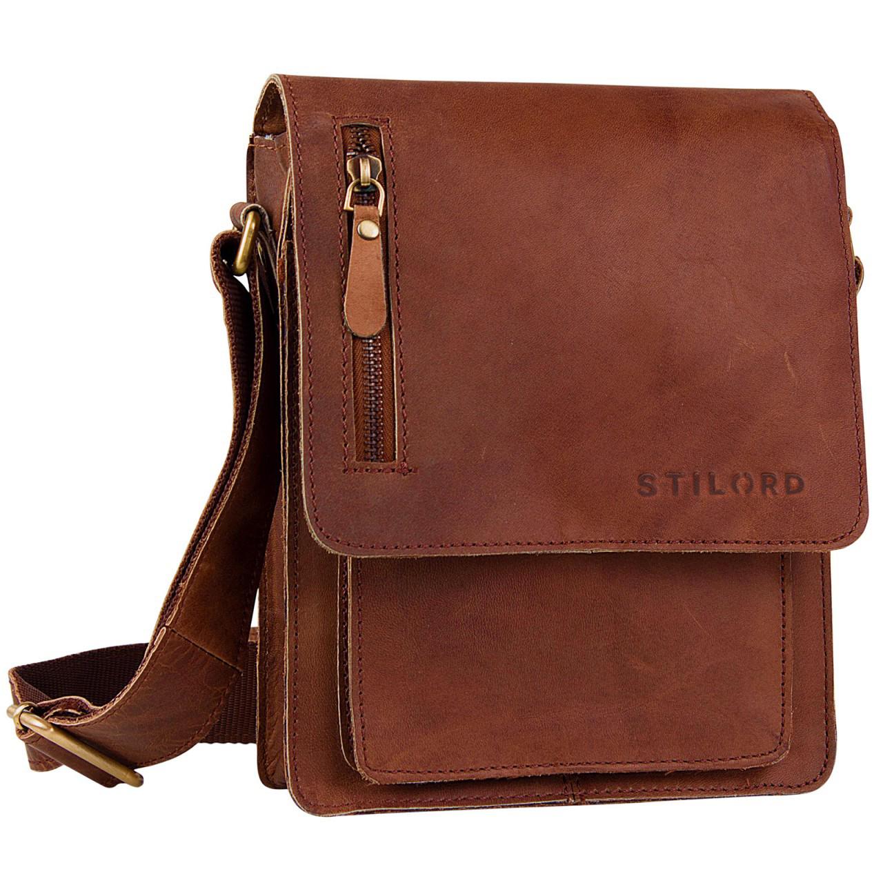 """STILORD """"Finn"""" kleine Umhängetasche Herren Schultertasche Vintage Messenger Bag 8,4 Zoll Tablettasche echtes Büffel-Leder  - Bild 8"""