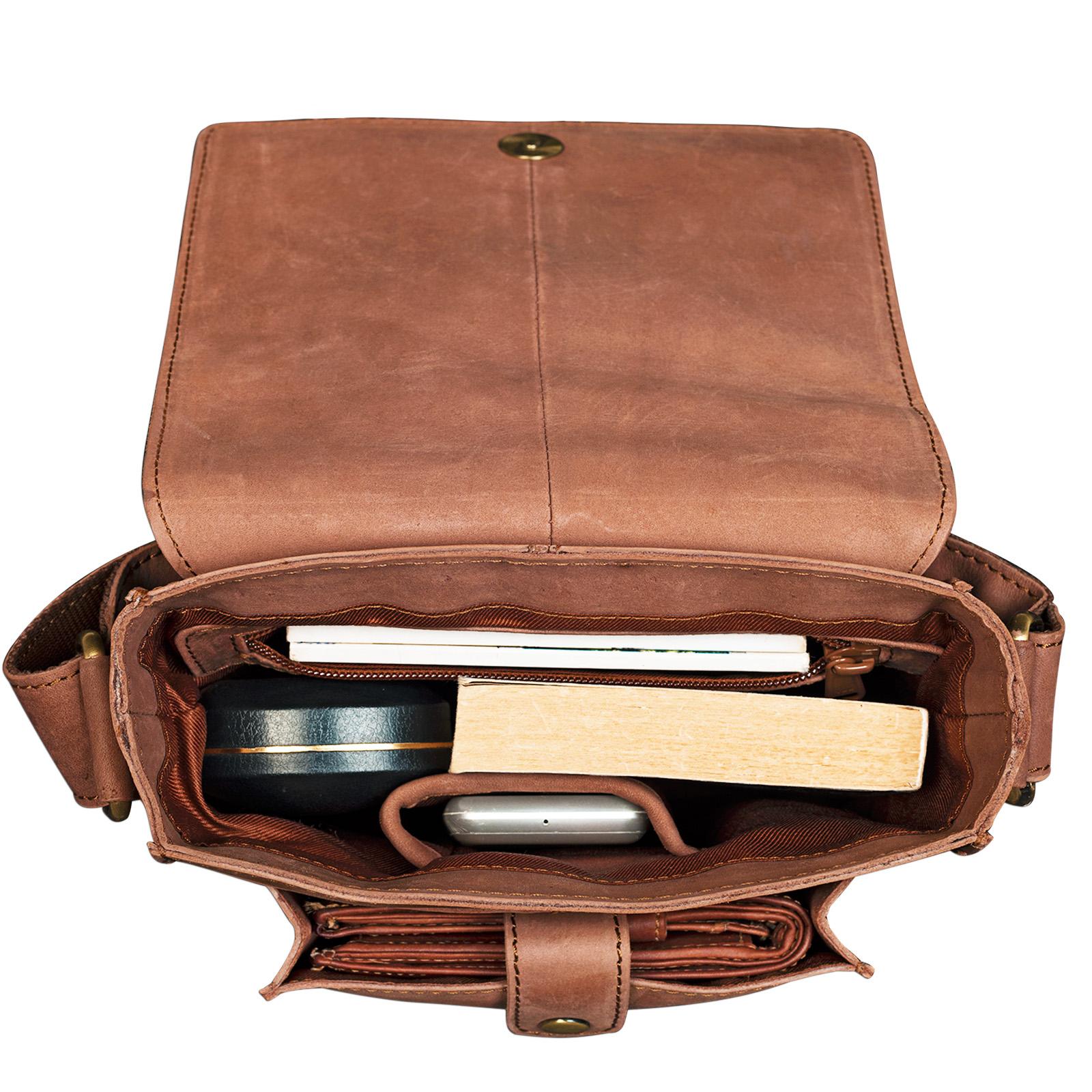 """STILORD """"Finn"""" kleine Umhängetasche Herren Schultertasche Vintage Messenger Bag 8,4 Zoll Tablettasche echtes Büffel-Leder  - Bild 5"""