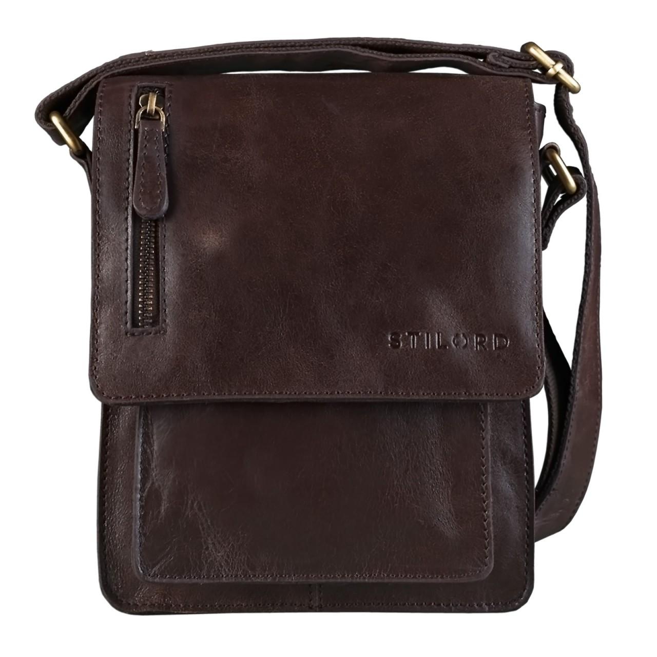 """STILORD """"Finn"""" kleine Umhängetasche Herren Schultertasche Vintage Messenger Bag 8,4 Zoll Tablettasche echtes Büffel-Leder  - Bild 9"""