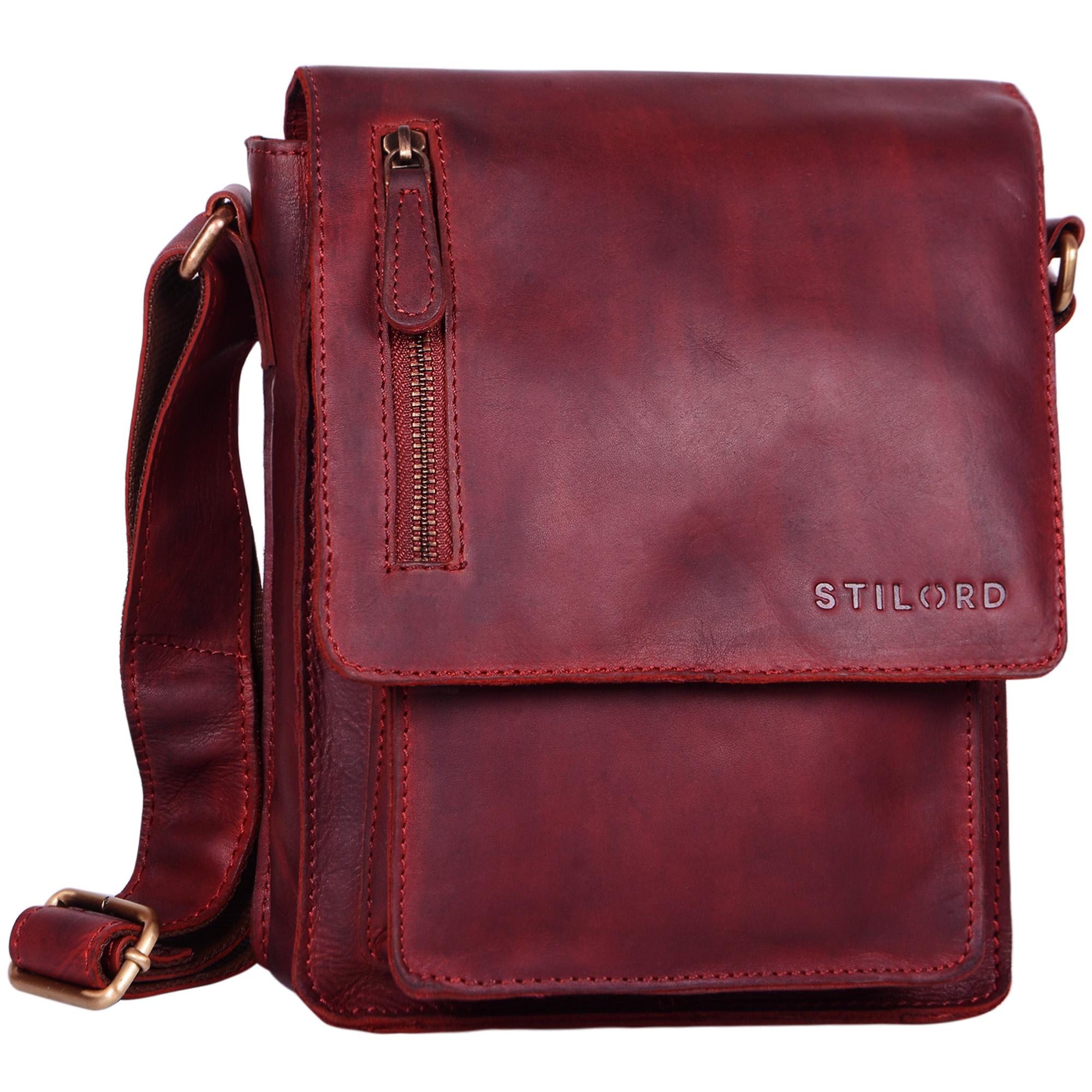 """STILORD """"Finn"""" kleine Umhängetasche Herren Schultertasche Vintage Messenger Bag 8,4 Zoll Tablettasche echtes Büffel-Leder  - Bild 11"""