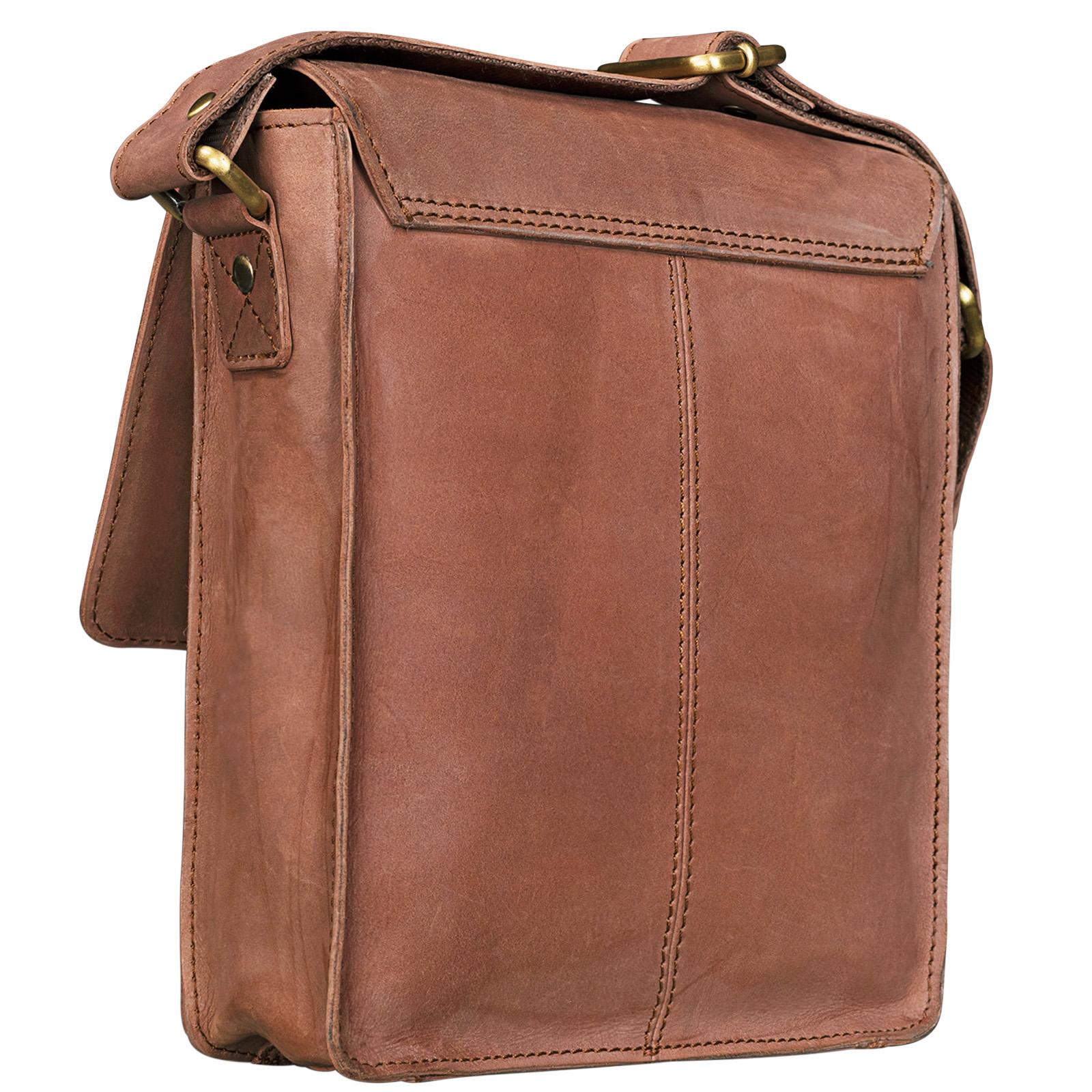 """STILORD """"Finn"""" kleine Umhängetasche Herren Schultertasche Vintage Messenger Bag 8,4 Zoll Tablettasche echtes Büffel-Leder  - Bild 7"""