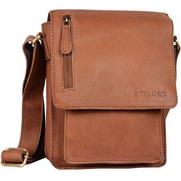 """STILORD """"Finn"""" kleine Umhängetasche Herren Schultertasche Vintage Messenger Bag 8,4 Zoll Tablettasche echtes Büffel-Leder  – Bild 12"""