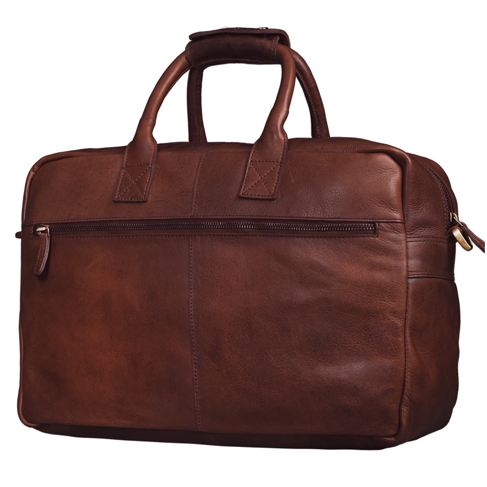 """STILORD """"Henri"""" Bürotasche Leder 15,6 Zoll Vintage Laptop Aktentasche Businesstasche Umhängetasche Lehrertasche Büffelleder - Bild 6"""