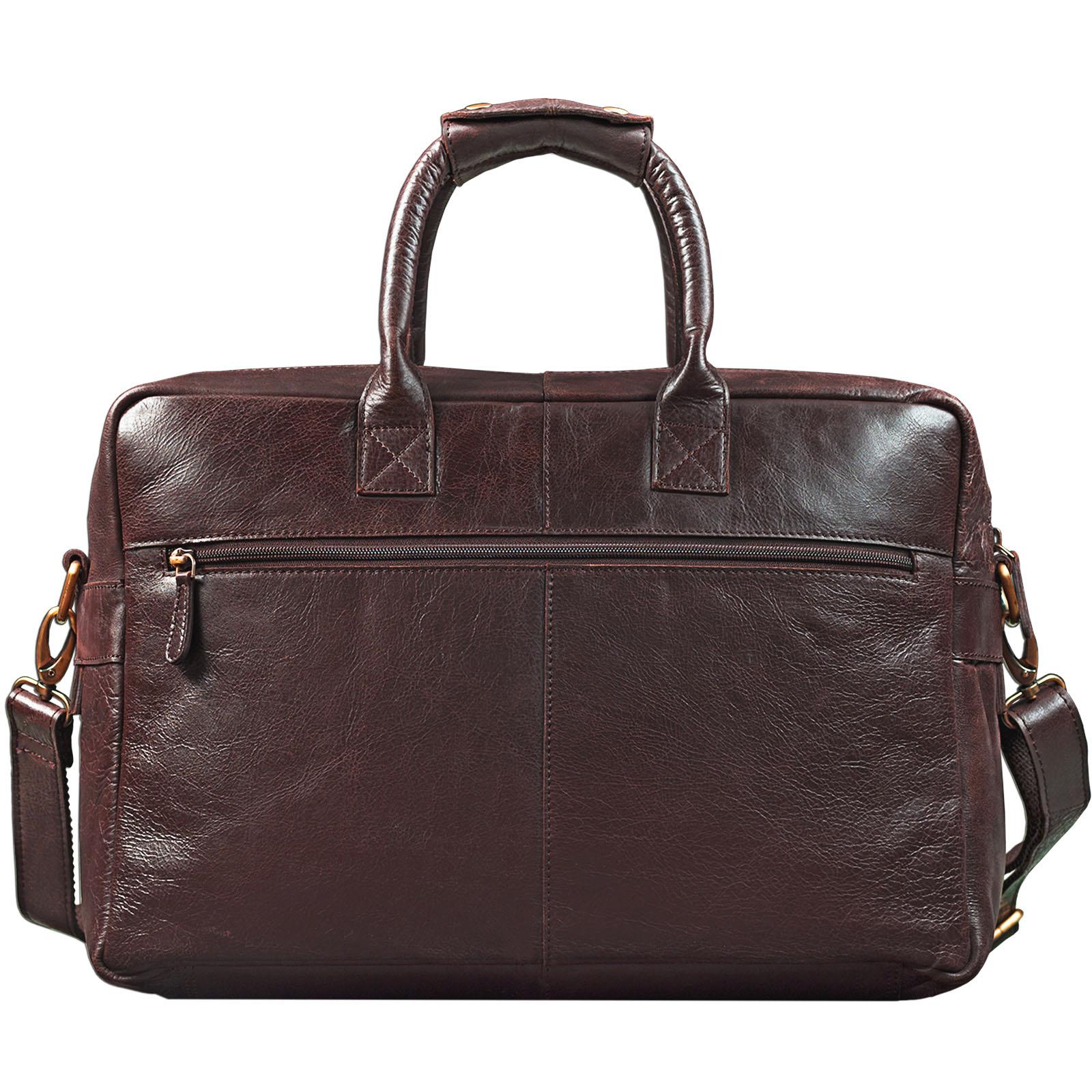 """STILORD """"Henri"""" Bürotasche Leder 15,6 Zoll Vintage Laptop Aktentasche Businesstasche Umhängetasche Lehrertasche Büffelleder - Bild 10"""